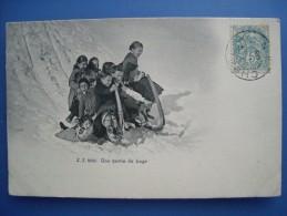 Une Partie De Luge, 1906, TBE. - Sports D'hiver
