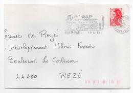 1988--Sport Pétanque--flamme 05-GAP  RP  12ème Championnat France Pétanque Féminin (boules) Sur Tp Liberté 2.20 - Pétanque