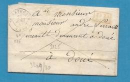 Maine Et Loire - St Mathurin Pour Doué. LAC De 1841 En Port Payé écrite à St Remy - Marcophilie (Lettres)