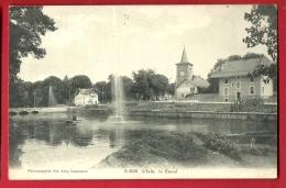 FIX-02 L'Isle, Le Canal Et Le Jet D'eau.  Cachet 1908  Ecrite Par Un Militaire Stationné Dans La Région - VD Waadt