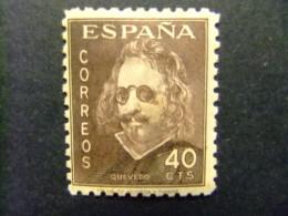 ESPAÑA ESPAGNE1945 FRANCISCO De QUEVEDO Edifil Nº 989 * MH - 1931-Today: 2nd Rep - ... Juan Carlos I