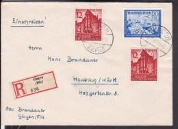 Deutsches Reich Einschreiben Gingen (Fils ) Nach Heubach 1940 - Briefe U. Dokumente