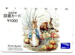 Titre De Transport Japon - Peter Rabbit - Billetes De Transporte
