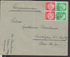 Deutsches Reich Zusammendruck  Aalen Nach Argentinien 1935 - Deutschland