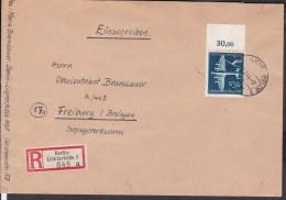 Deutsches Reich Einschreiben Berlin - Lichterfelde Nach Freiburg 1940 Mi.nr. 868 , Oberrand - Briefe U. Dokumente