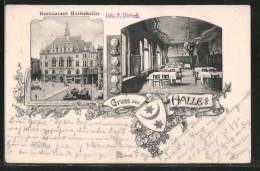 AK Halle / Saale, Restaurant Rathskeller, Innenansicht - Zonder Classificatie