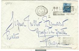 """""""VAN DEN BORRE"""" PIANTE,TIMBRO TARGHETTA POSTE TREVISO,1949, RR - 1946-60: Storia Postale"""