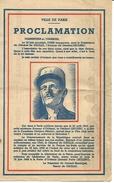 Proclamation De L'Inauguration De L' Avenue Du Général Leclerc  Le 15 Juin 1949 - Documents Historiques