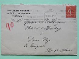 France 1932 Cover Hotel De Russia, Vichy To Paris-Plage Pas-de-Calais - Semeuse