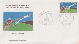 Enveloppe  FDC  1er  Jour  TERRITOIRE  FRANCAIS   Des   AFARS  Et  ISSAS    Tir  Aux  Pigeons   1970