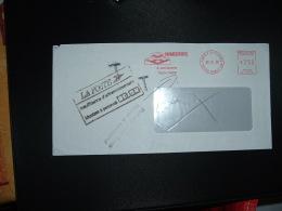 LETTRE EMA SG 13178 à 250 Du 29 10 92 PARIS P. D. PRINCES + TAXE 5,00 + Refusé Pour Taxe - Poststempel (Briefe)