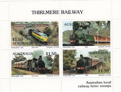 Australia 1986 Thirlmere Railway Miniature Sheet A MNH - Trains