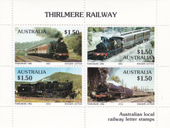 Australia 1986 Thirlmere Railway Miniature Sheet B MNH - Trains