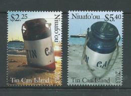 Tonga Niuafo´ou 2013 Tin Can Mail & Ship Set 2 MNH - Tonga (1970-...)