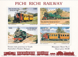 Australia 1987 Pichi Richi Railway Miniature Sheet N 1 MNH - Trains
