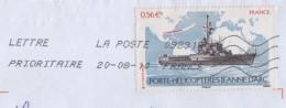 LETTRE ENTIERE - FLAMME 09831A DE 2010  - PORTE HELICOPTERE JEANNE D ARC  SEUL SUR LETTRE - VOIR LE SCANNER - France