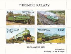 Australia 1990 Thirlmere Railway Miniature Sheet A MNH - Trains