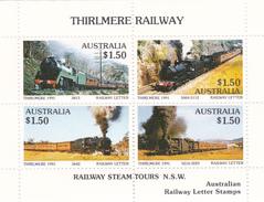 Australia 1991 Thirlmere Railway Miniature Sheet A MNH - Trains