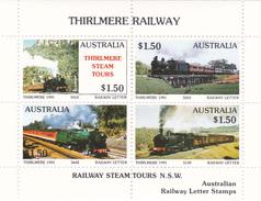 Australia 1991 Thirlmere Railway Miniature Sheet B MNH - Trains