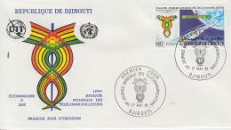 Enveloppe  FDC  1er  Jour    REPUBLIQUE   De   DJIBOUTI    Journée  Mondiale  Des  Télécomminications   1981 - Djibouti (1977-...)