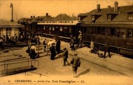 50-CHERBOURG..ARRIVE D'UN TRAIN TRANSATLANTIQUE...REPRO..CPM - Cherbourg