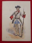 EDMOND LAJOUX SOLDAT REGIINE GRAVURE REHAUSSÉE 31 X 22.5 - Prints & Engravings