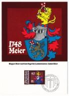 LIECHTENSTEIN - Armoiries - 4 Cartes Maximum 1981 - Armoiries