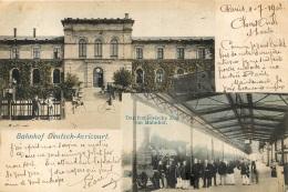 BAHNHOF DEUTSCH AVRICOURT  GARE AVRICOURT  1902 - France