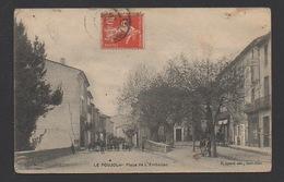 DF / 34  HERAULT / LE POUJOL / PLACE DE L'EMBAÎSSO / ANIMÉE / CIRCULÉE EN 1907 - France