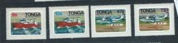 Tonga 1982 Inter Island Transport  Self Adhesive Set 4 MNH Boat Plane - Tonga (1970-...)
