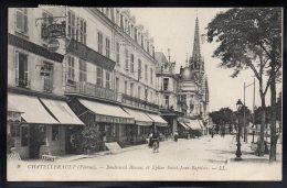 CHATELLERAULT 86 - Boulevard Blossac Et Eglise Saint Jean Baptiste - Chatellerault