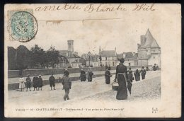CHATELLERAULT 86 - Châteauneuf - Vue Prise Du Pont Henry IV - Chatellerault