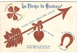 CPA, La Flèche De Bonheur, Carte Reliëf, Gaufrée (pk31046) - Valentijnsdag