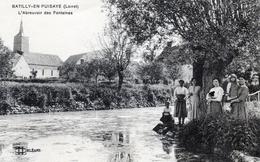 Batilly-en-Puisaye. L'Abreuvoir Des Fontaines. Animée. - Autres Communes