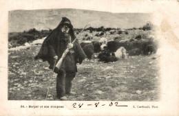 BERGER CORSE ET SON TROUPEAU - France