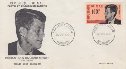 Enveloppe  FDC  1er  Jour    MALI    Président   John  KENNEDY   1964 - Kennedy (John F.)