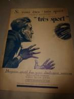 """1923     """" TRES SPORT """"    Publicité ----> Magazine Sportif D'un Genre Absolument Nouveau - Advertising"""
