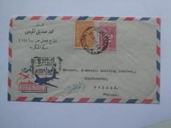 SAUDI ARABIA 1957 AIR MAIL COVER MECCA / MECQUE TO CHICESTER ENGLAND - Arabia Saudita