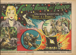 ALBI COSTELLAZIONE N. 12 - TERRY E I PIRATI- SULLA LINEA DEL FUOCO-1947 - Klassiekers 1930-50