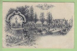 VILLEFRANCHE DE ROUERGUE : Institution Des S.S. Coeurs, Château De Graves. Sacré Coeur. 2 Scans. Edition Benoît - Villefranche De Rouergue