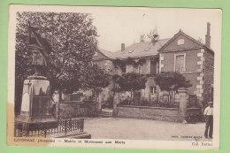 LIVINHAC : Mairie Et Monument Aux Morts. 2 Scans. Edition Battut - Altri Comuni