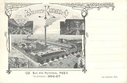 75 PARIS - BRASSERIE KARCHER  - 139 RUE DES PYRENEES - USINE - MALTERIE - TAVERNE - Arrondissement: 20