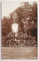 Camp Beverloo 1911 Fotokaart Soldats Officiers 14e Regiment De Ligne Statue General Chazal Standbeeld Carte Photo - Leopoldsburg (Camp De Beverloo)