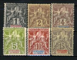Senegambia E Niger 1903 Lotto Dei Primi 6 Valori Della Serie 1-13 MH Catalogo € 40