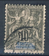 Senegal 1892 - 93 N. 12 C. 10 Nero Su Lilla Usato Catalogo € 7,60 - Unclassified