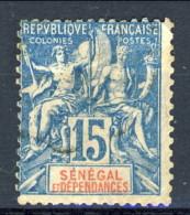 Senegal 1892 - 93 N. 13 C. 15 Azzurro MLH Catalogo € 18 - Unclassified