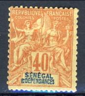 Senegal 1892 - 93 N. 17 C. 40 Rosso Arancio MLH Catalogo € 34 - Unclassified