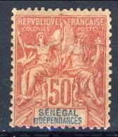 Senegal 1892 - 93 N. 18 C. 50 Rosa MLH Catalogo € 50 - Unclassified