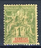 Senegal 1892 - 93 N. 20 F. 1 Verde Oliva MLH Catalogo € 29 - Unclassified