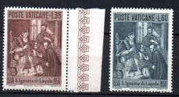 1956 Vaticano S. Ignazio Da Loyola N. 212-13 INTEGRI MNH** - Vatikan